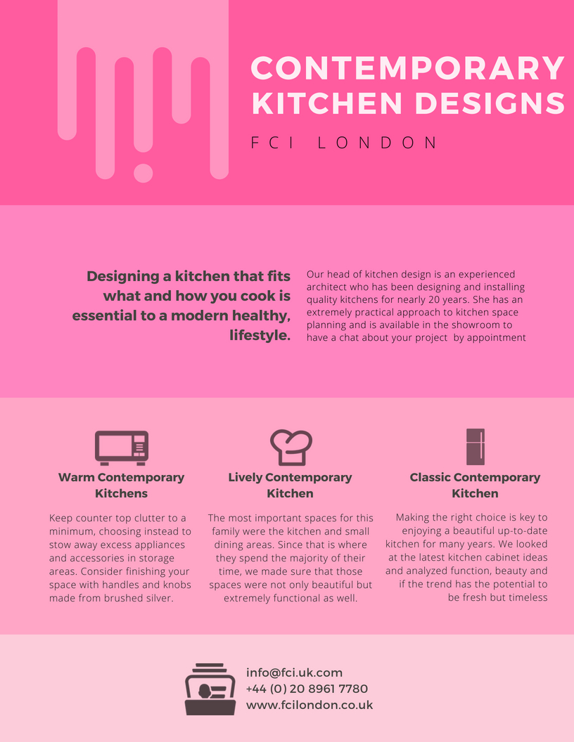 What are the top 3 contemporary kitchen designs?
